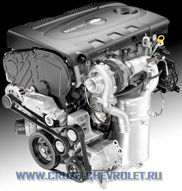 новый бензиновый турбированный двигатель объемом 1,4 литра для Chevrolet Cruze